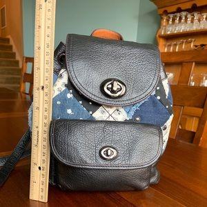 Coach Patchwork Turn-lock Rucksack Backpack 37743